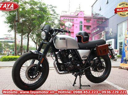 Bộ ảnh chi tiết xe Brixton Cafe Racer màu bạc nhập Malaysia